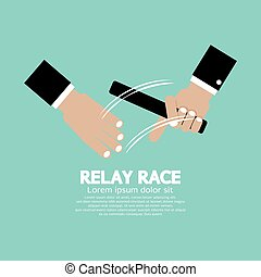 Relay Race Vector Illustration