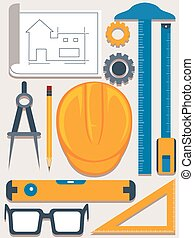 Engineering and architecture Tools Elements