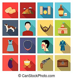 trade, business, hobby and other web icon in flat style., tourism, medicine, history icons in set collection.