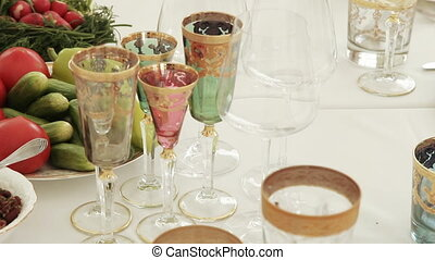 Serving of a festive table - Festive serving of the Armenian...