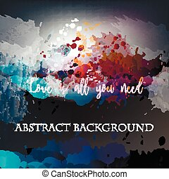 Abstract vector background with ink colored spots.eps