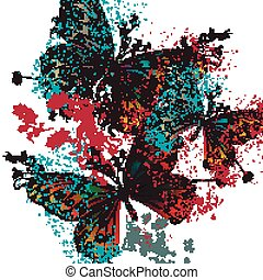 Butterfly vector design with colorful wings.eps - Butterfly...