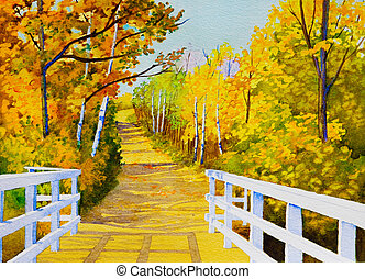 Parkland Trails - An original watercolor painting inspired...