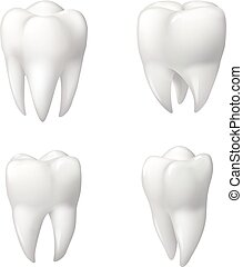 Healthy teeth icon set for dentistry design - Tooth isolated...