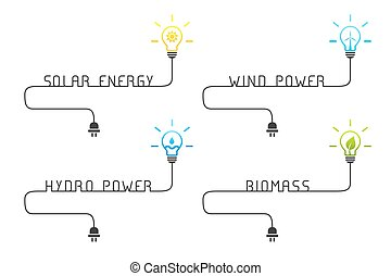 Green and renewable energy sources concept