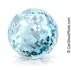 Glitter Ball - A glitter mirror disco ball decoration