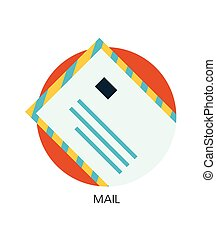 Vector contact mail flat icon