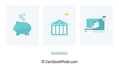 banking concept flat design