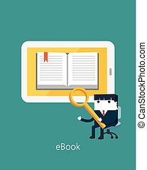 Flat Business character Series.business ebook concept