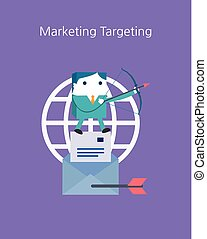 Flat Business character Series. marketing target concept