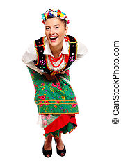 Polish girl in a traditional outfit