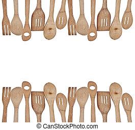 Kitchen Utensils Border stock photo of utensil border - a group of kitchen utensils