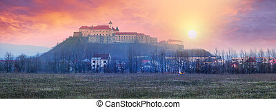 "Dawn over the castle Palanok - Mukachevo castle ""Palanok"" -..."
