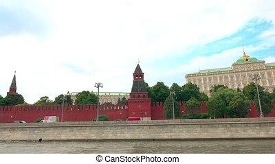 The Moscow Kremlin embankment hyperlapse
