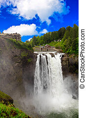Snoqualmie Falls Vertical - Snoqualmie Falls near Seattle,...