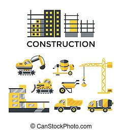 Digital vector construction building tracks - Digital vector...