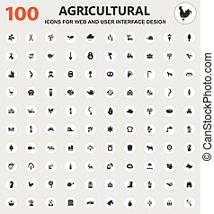 Agriculture icon set - Agriculture icons for web and user...