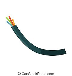 Wires in braiding - Vector illustration of bunch of wires in...