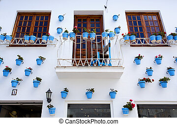 Characteristic street in the center of Benalmadena, Malaga,...