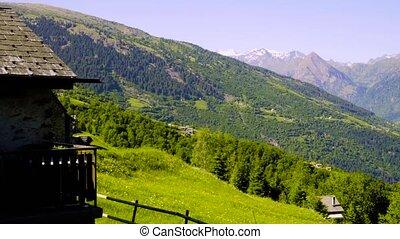 Alpine meadows in Switzerland. Canton Tesshin