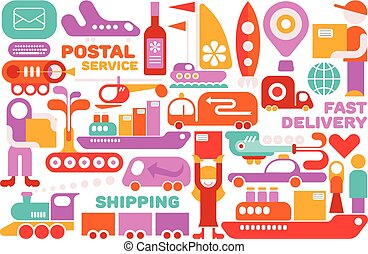 Shipping Service vector illustration