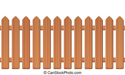 Picket Fence Wooden Texture - Picket fence, wooden textured,...