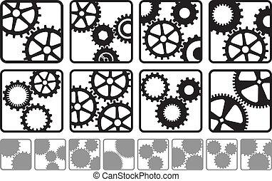 Cog Logos - A variety of cog logos