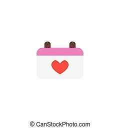Flat Icon Marriage Day Element. Vector Illustration Of Flat Icon Calendar Isolated On Clean Background. Can Be Used As Calendar, Marriage And Day Symbols.