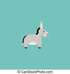 Flat Icon Donkey Element. Vector Illustration Of Flat Icon...