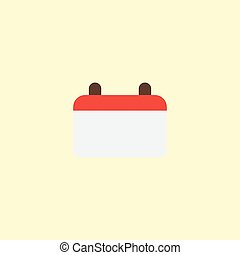Flat Icon Calendar Element. Vector Illustration Of Flat Icon Date Isolated On Clean Background. Can Be Used As Calendar, Date And Day Symbols.
