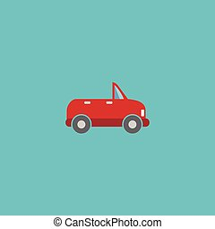 Flat Icon Cabriolet Element. Vector Illustration Of Flat Icon Transport Isolated On Clean Background. Can Be Used As Transport, Cabriolet And Car Symbols.