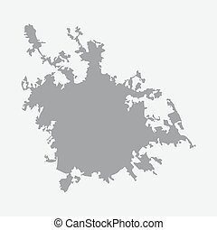Rome city map in gray on a white background