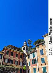 Portofino, Italy - View at colorful building in Portofino,...