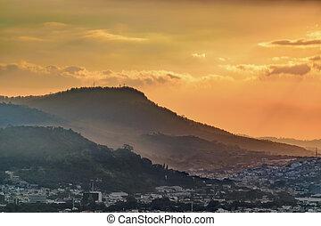 Aerial Landscape Scene, Guayaquil, Ecuador - Aerial view...