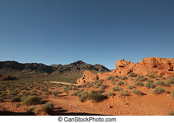 Road through the Arizona Canyon - Road through canyons,...