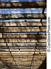 Wooden roof. Close - Dsign solution, wooden roof, bright...