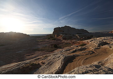 Man in Grand Canyon - Arizona canyon, human and nature,...
