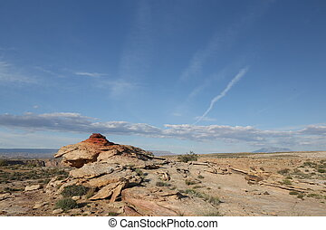 Clear sky above canyon - Arizona rocks, clear sky, mountain...