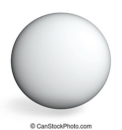 ideal sphere - White sphere on white