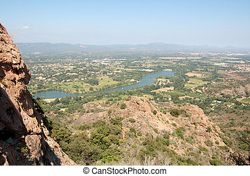 View across LAke from Roquebrune