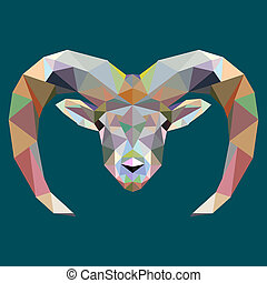Drawing polygon, moose, deer