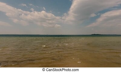 Aerial View of Lake Against Sky - Aerial Drone Footage of...