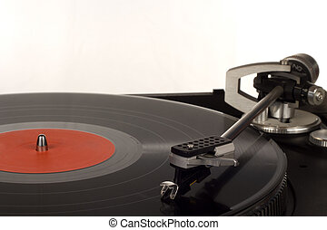 record player  - The picture shows a record player.