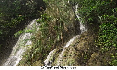 Beautiful tropical waterfall. Philippines Cebu island. -...