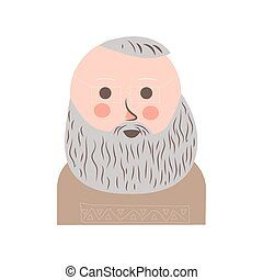 Senior man with grey hair and beard portrait - Senior man...
