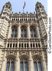 Palace of Westminster, details, London, England. The Palace...