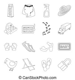 sport, fashion, service and other web icon in outline style.kitchen, transportation,travel icons in set collection.