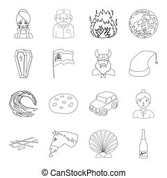 beauty, medicine, history and other web icon in outline style. transportation, service, sport icons in set collection.