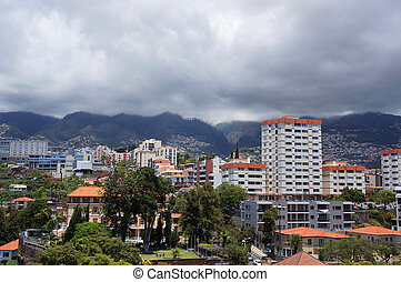View of Funchal, Madeira, Portugal. - View of Funchal,...