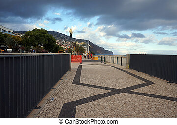 Promenade seafront in Funchal, Madeira. - Promenade seafront...